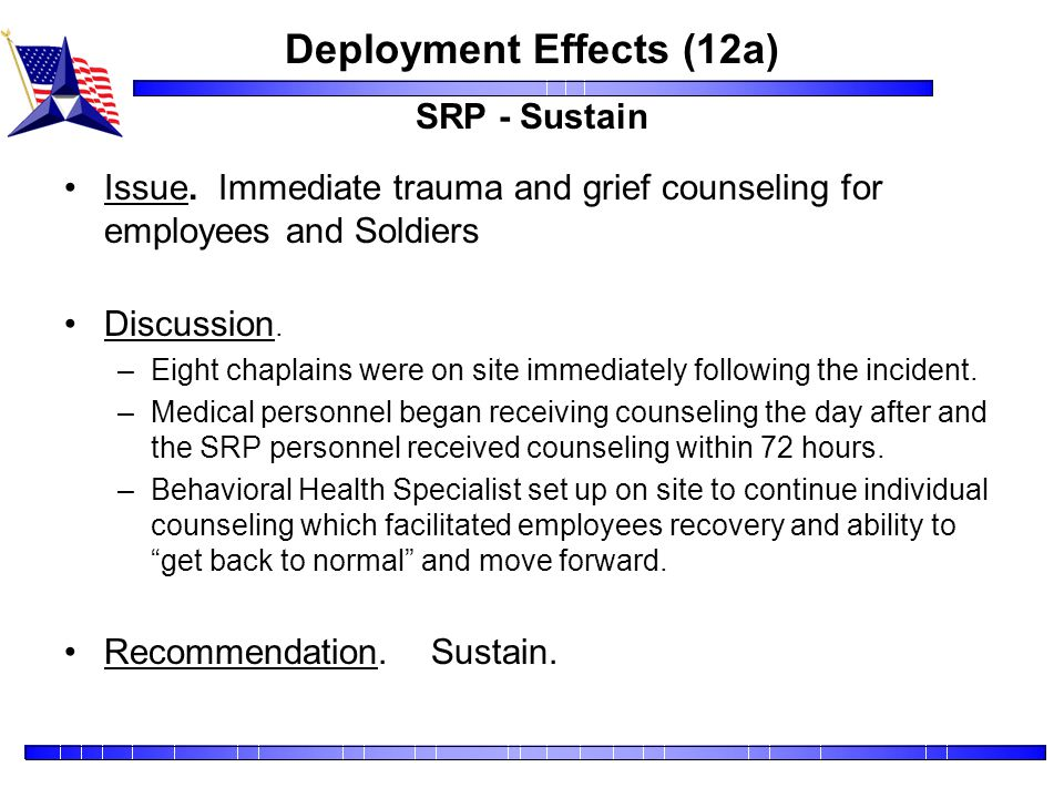 Deployment Effects (12a) SRP - Sustain