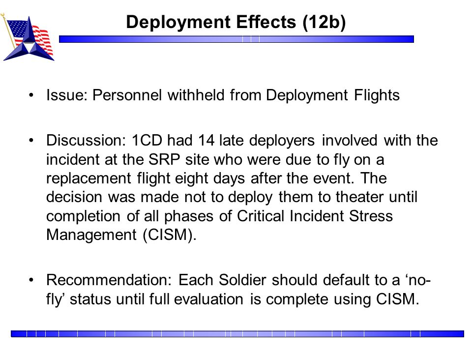 Deployment Effects (12b)