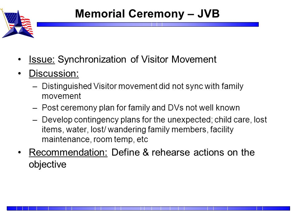Memorial Ceremony – JVB