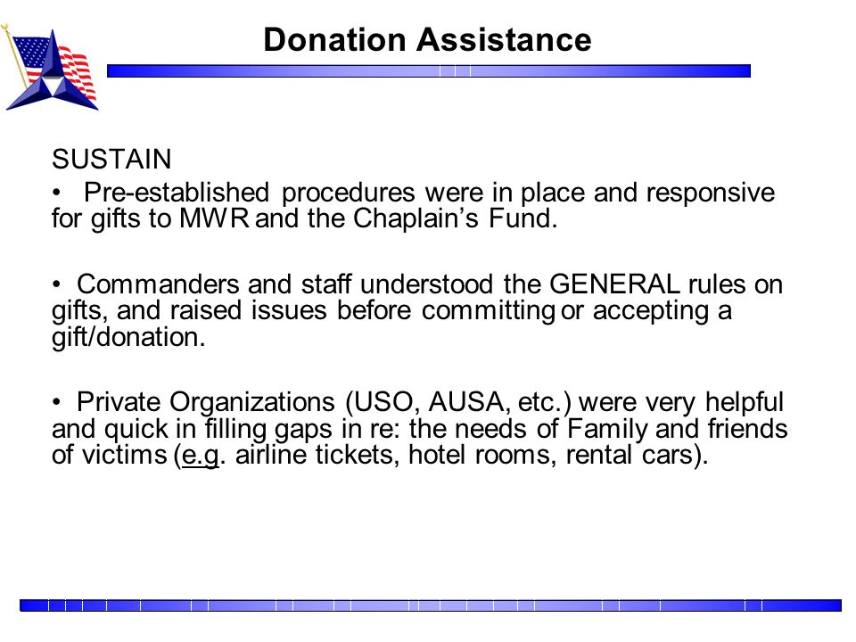 Donation Assistance SUSTAIN