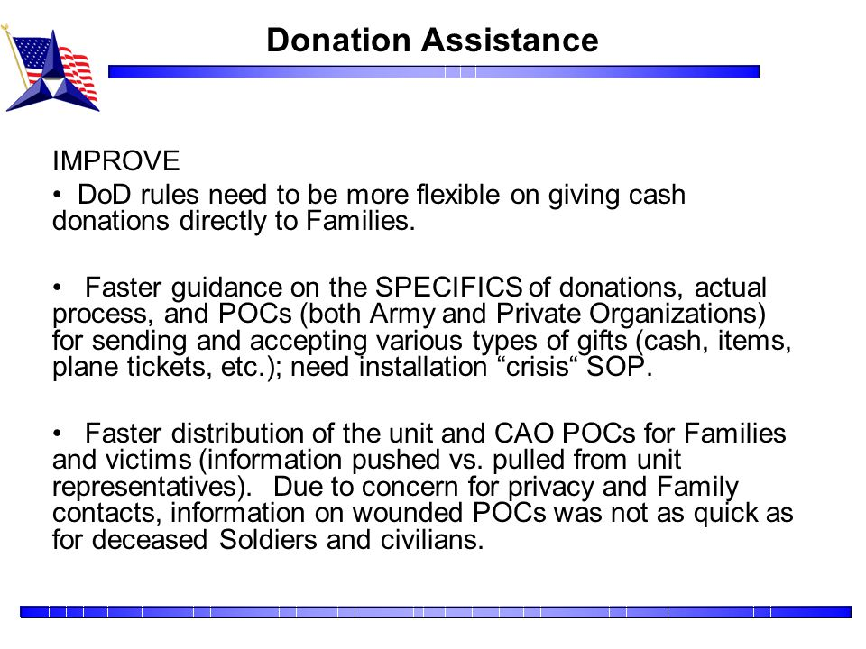 Donation Assistance IMPROVE
