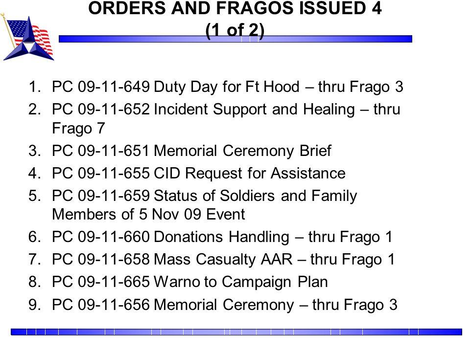 ORDERS AND FRAGOS ISSUED 4 (1 of 2)