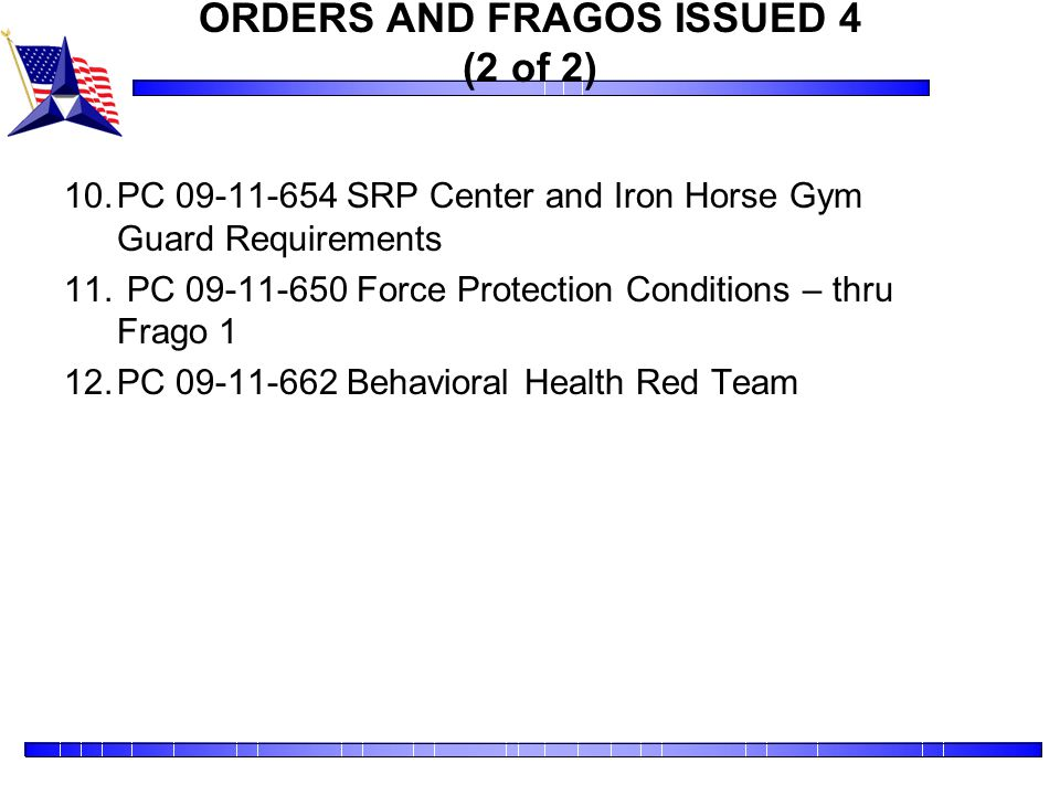 ORDERS AND FRAGOS ISSUED 4 (2 of 2)
