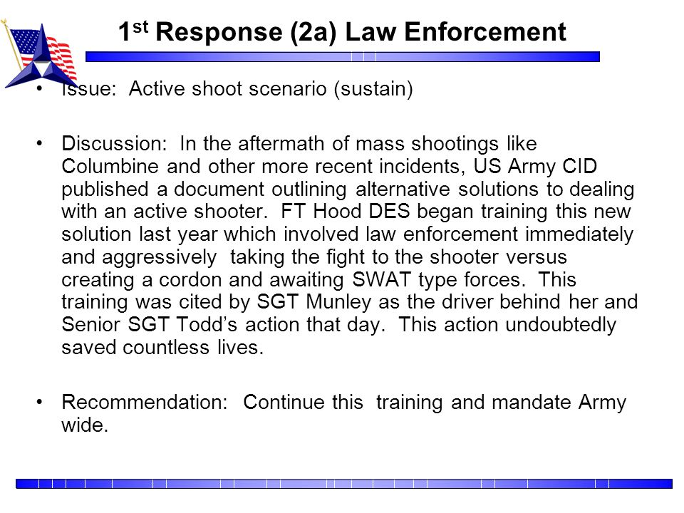1st Response (2a) Law Enforcement