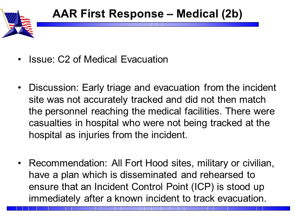 AAR First Response – Medical (2b)