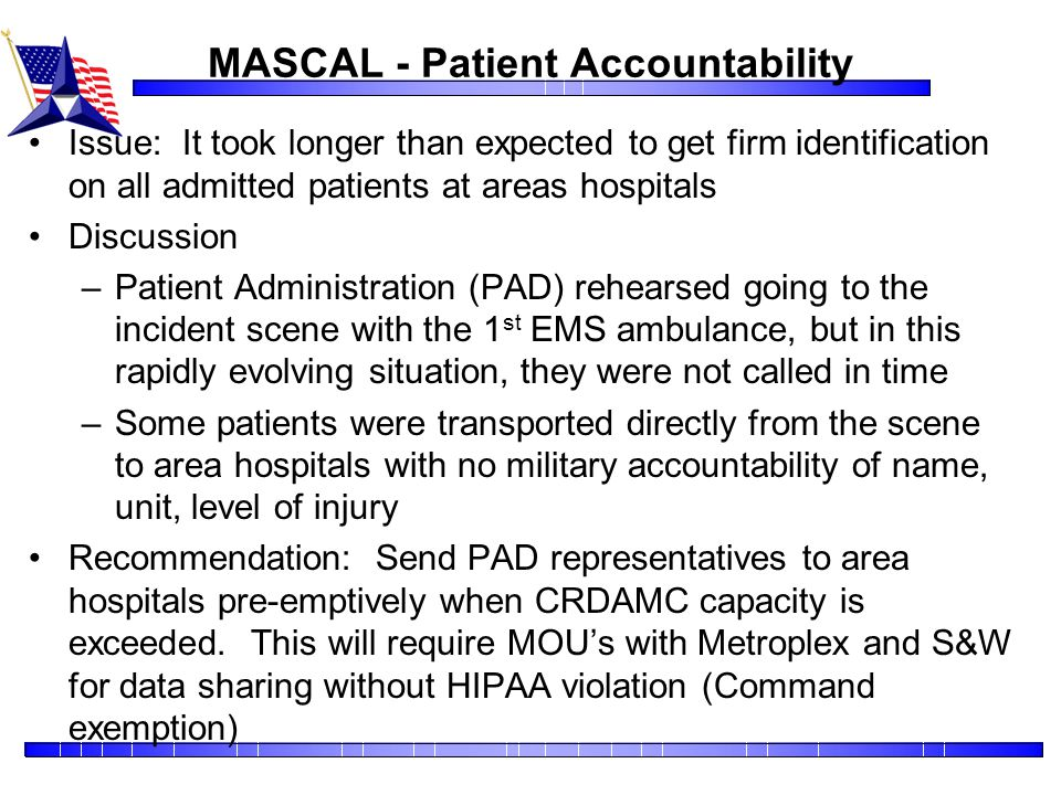 MASCAL - Patient Accountability