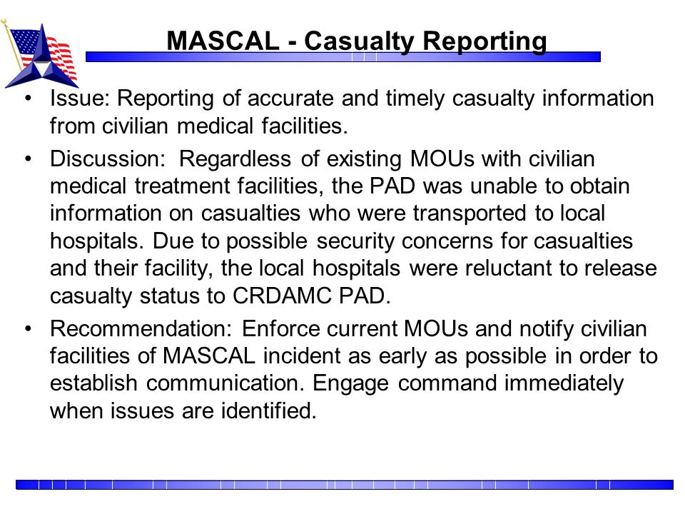 MASCAL - Casualty Reporting