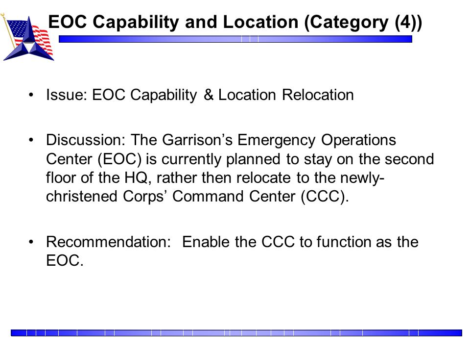 EOC Capability and Location (Category (4))
