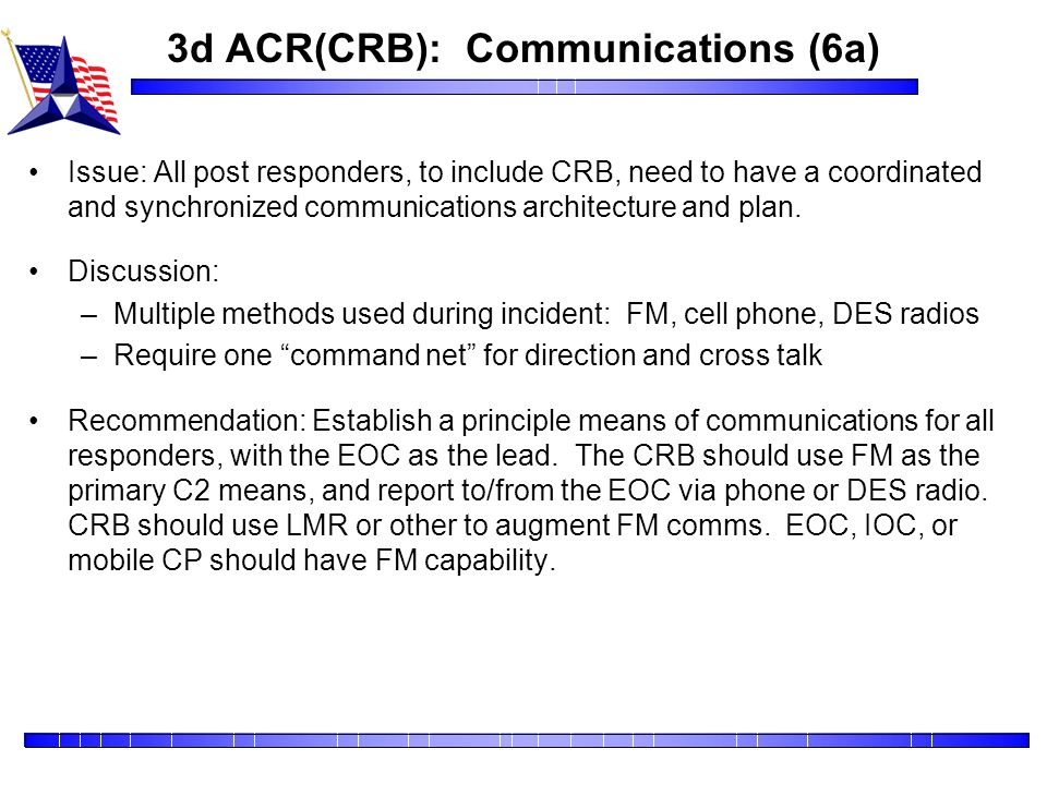 3d ACR(CRB): Communications (6a)