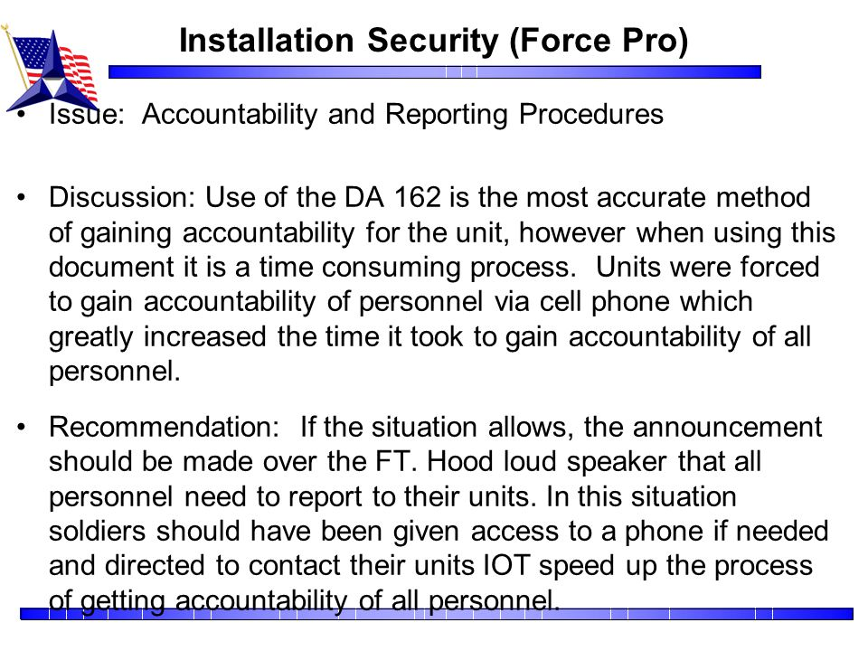 Installation Security (Force Pro)