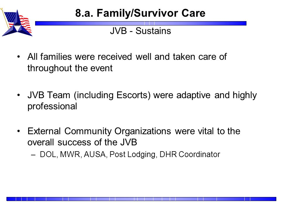 8.a. Family/Survivor Care JVB - Sustains