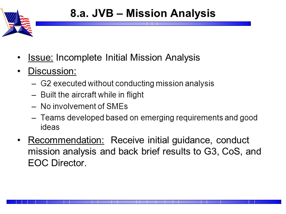 8.a. JVB – Mission Analysis