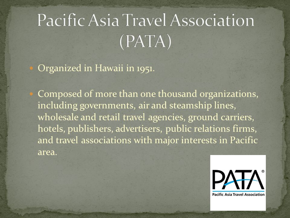 Tourism organizations ppt video online download 22 pacific asia travel publicscrutiny Image collections
