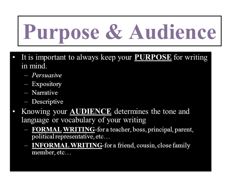 why is audience important in writing
