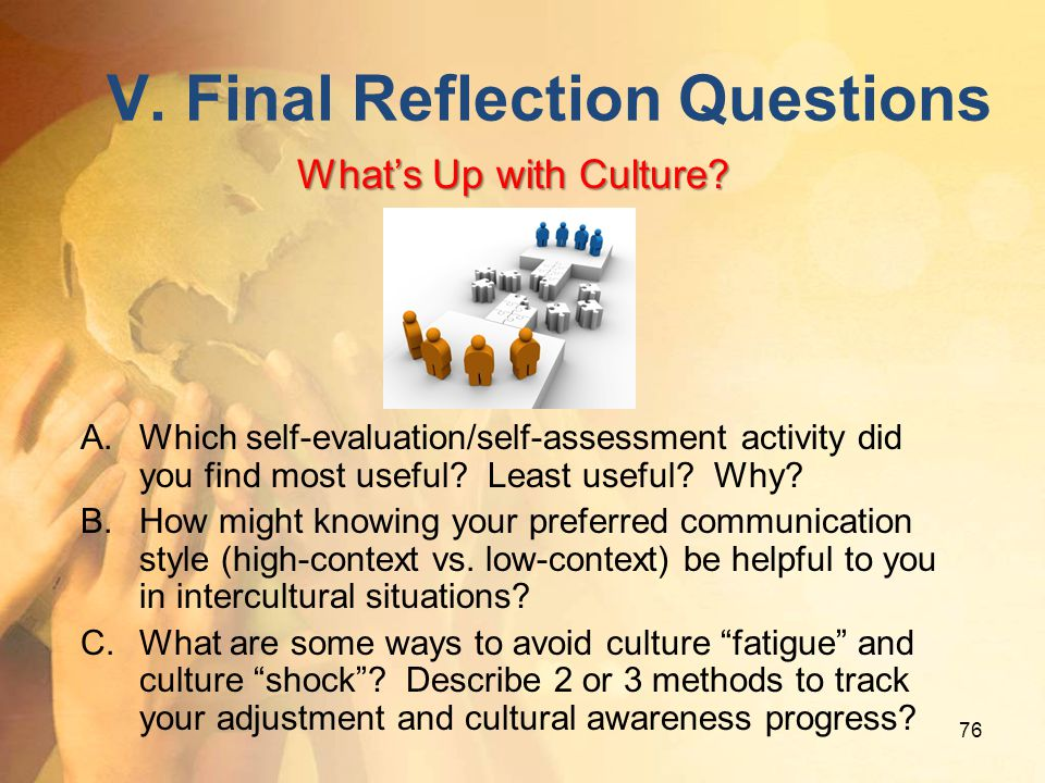 V. Final Reflection Questions