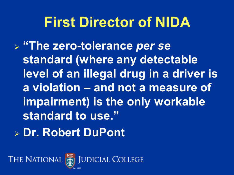First Director of NIDA