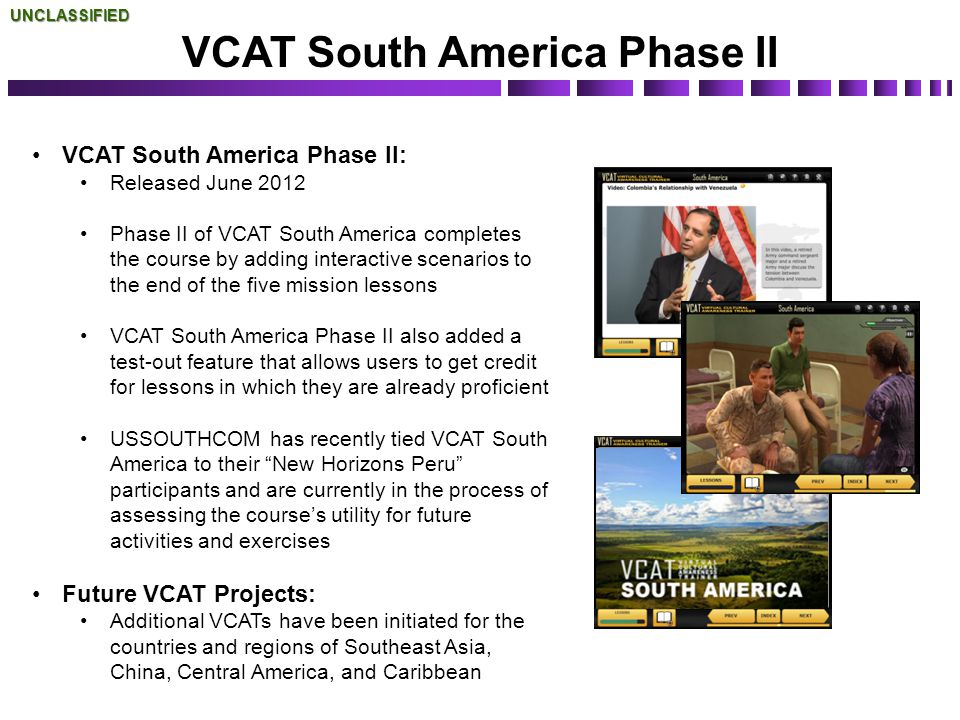 VCAT South America Phase II