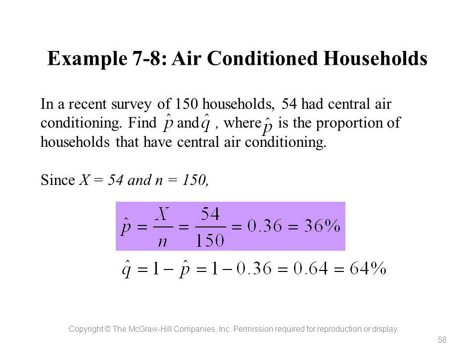 Example 7-8: Air Conditioned Households
