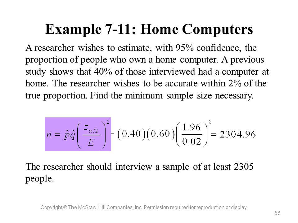 Example 7-11: Home Computers