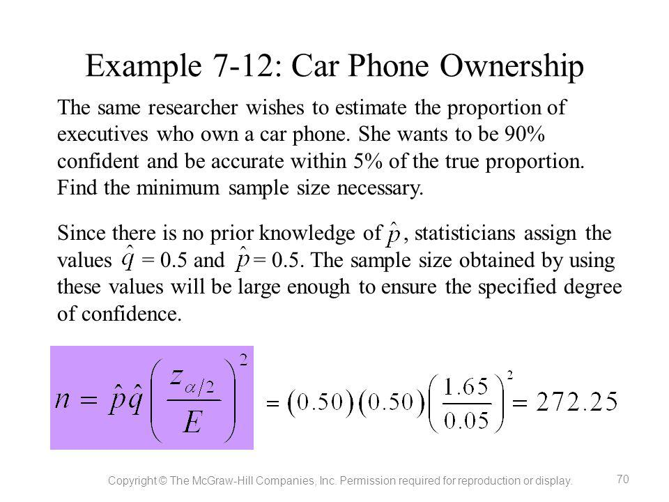 Example 7-12: Car Phone Ownership