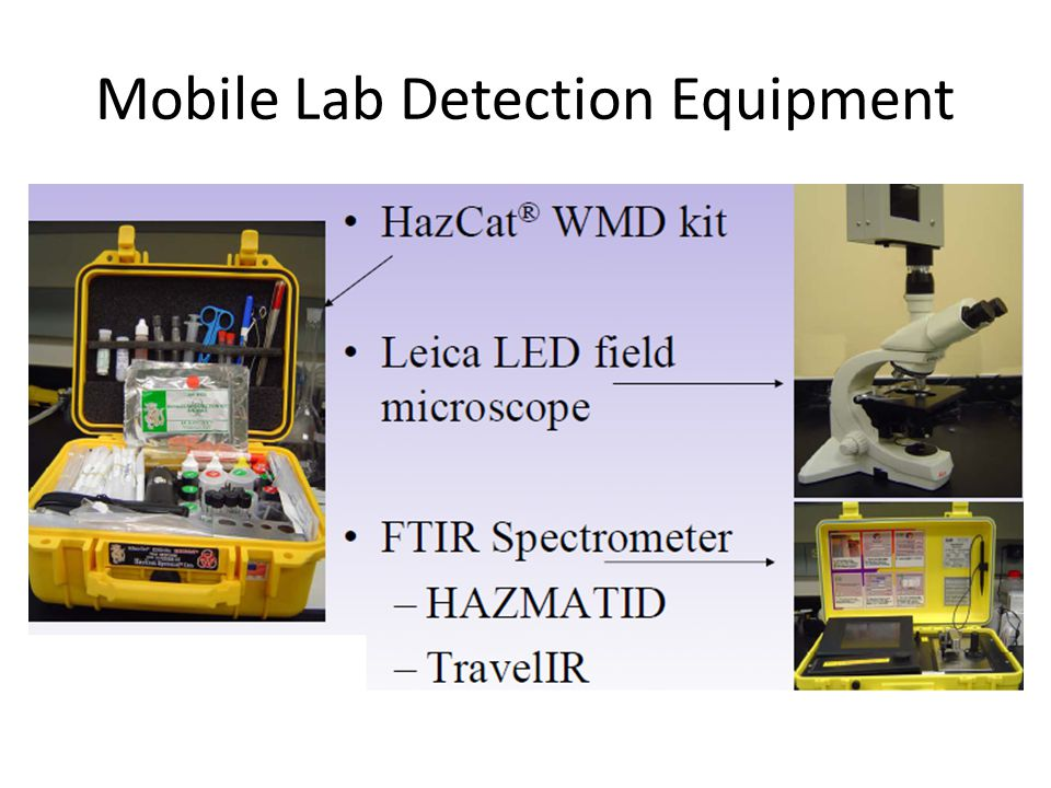 Mobile Lab Detection Equipment