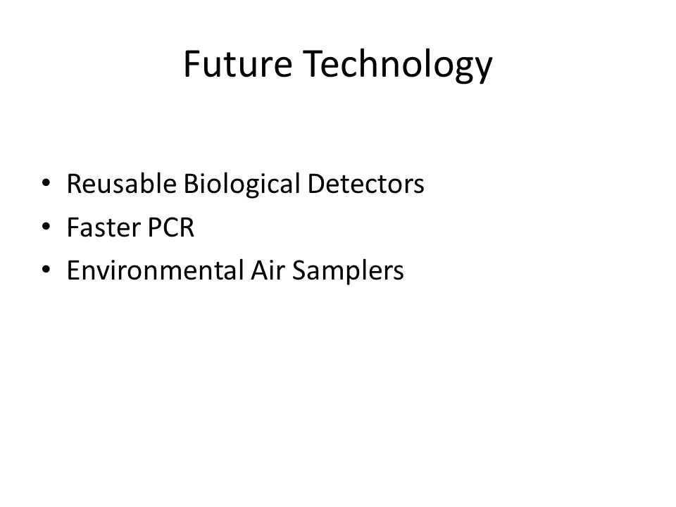 Future Technology Reusable Biological Detectors Faster PCR