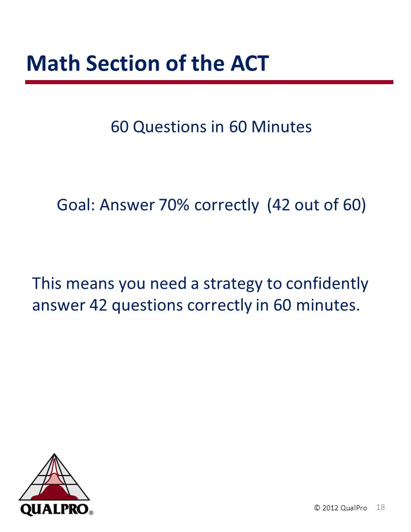 Goal: Answer 70% correctly (42 out of 60)