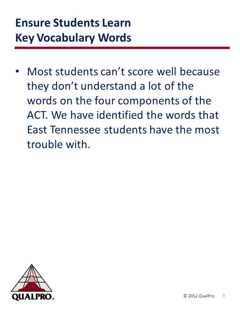 Ensure Students Learn Key Vocabulary Words