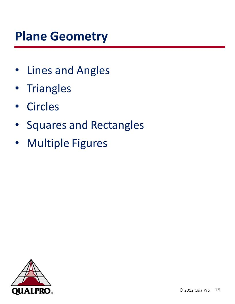 Plane Geometry Lines and Angles Triangles Circles