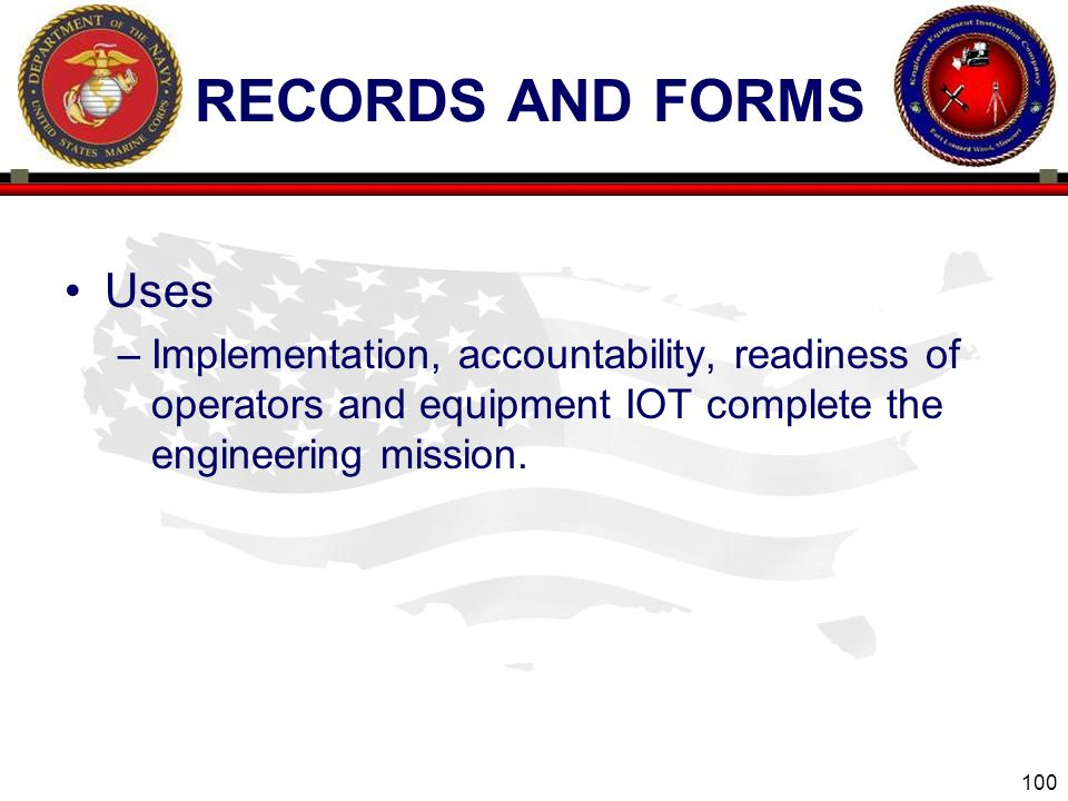 RECORDS AND FORMS Uses.