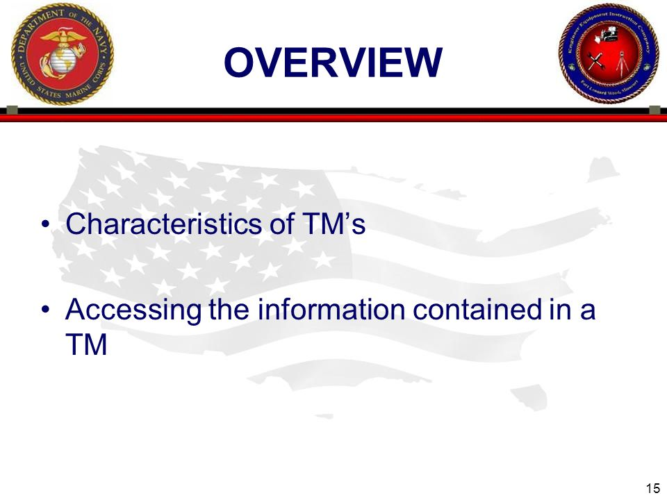 overview Characteristics of TM's
