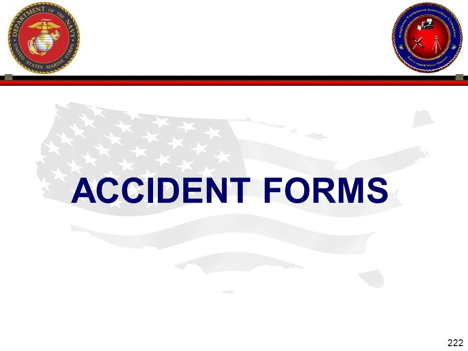 Accident forms