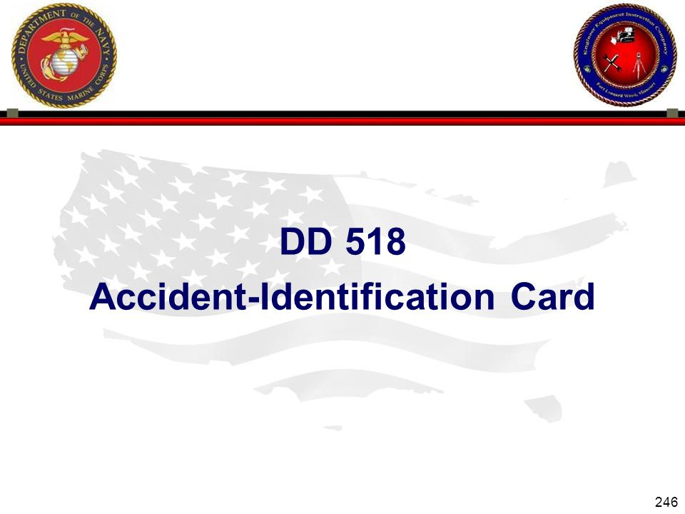 DD 518 Accident-Identification Card