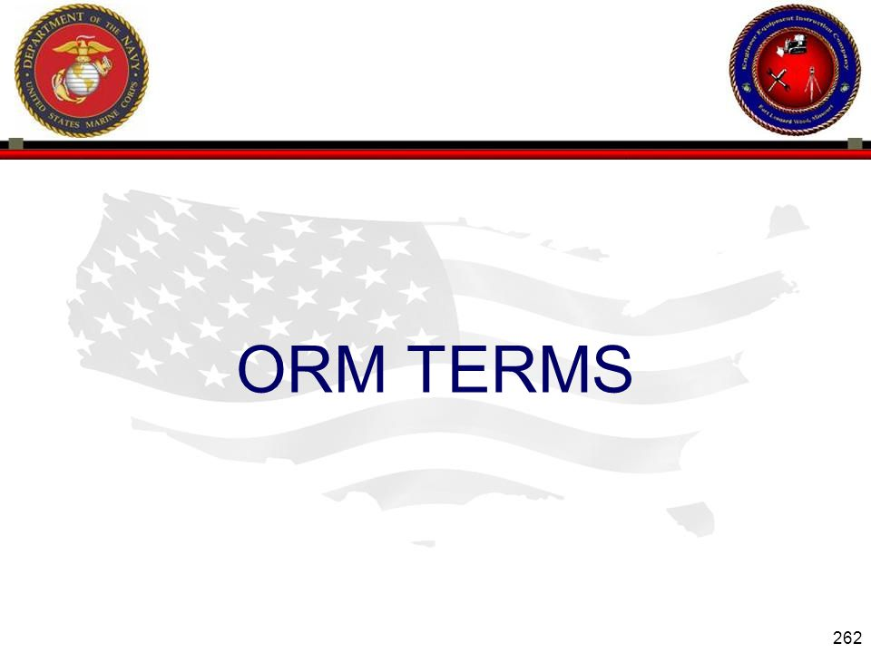 ORM TERMS