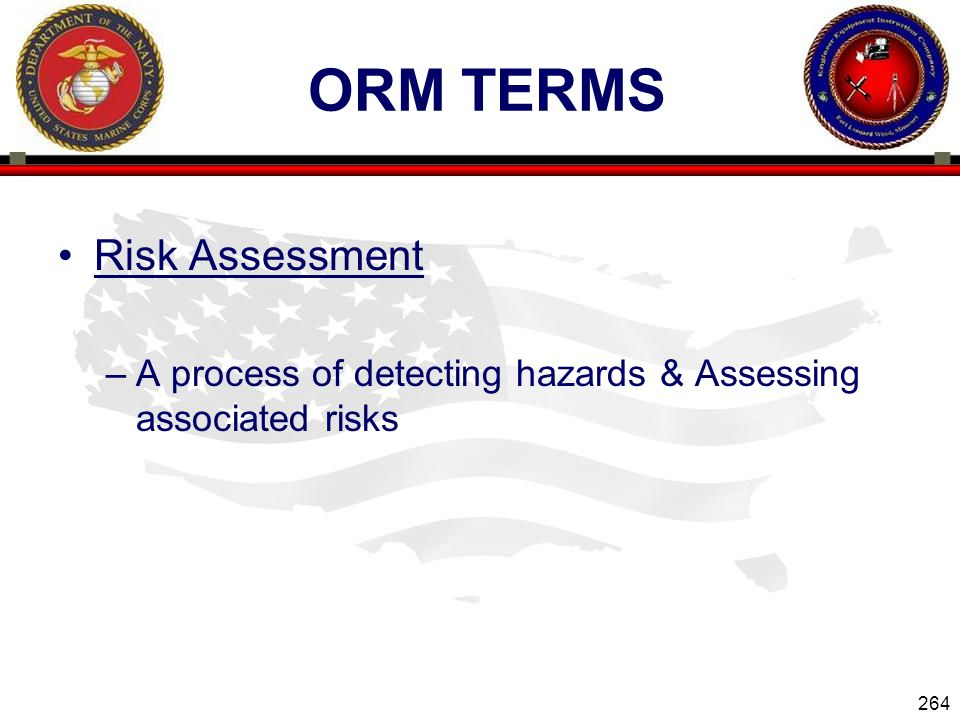 ORM Terms Risk Assessment