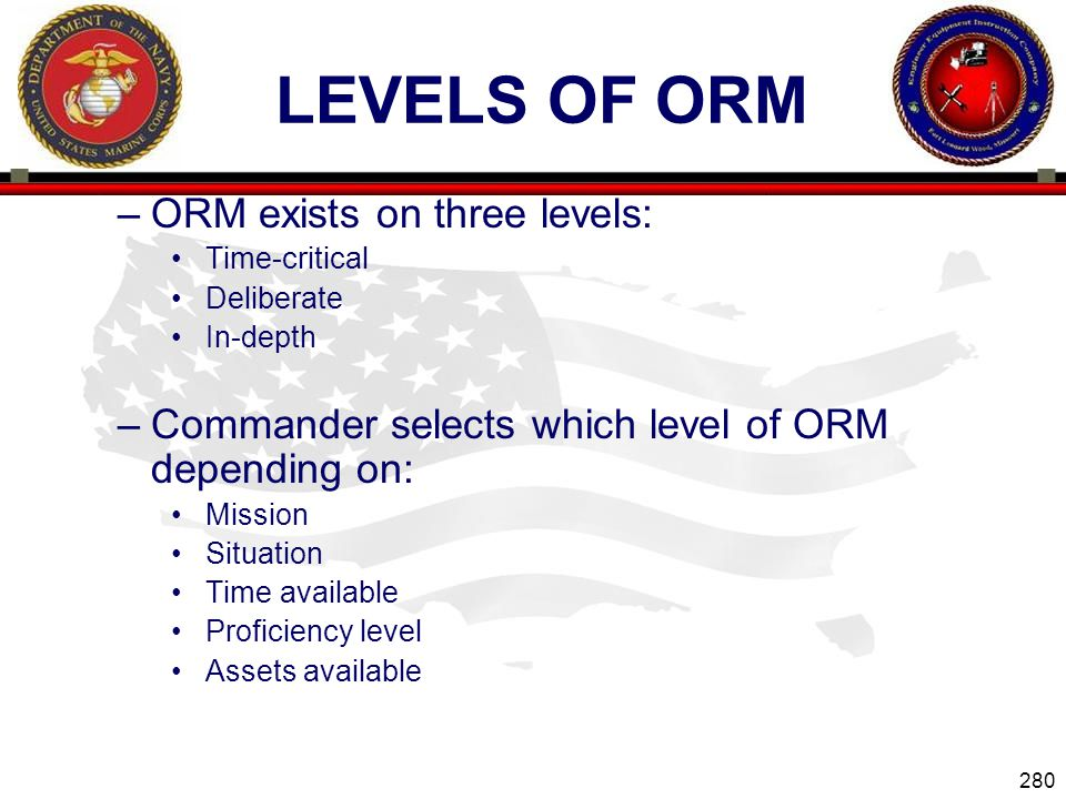 Levels of ORM ORM exists on three levels: