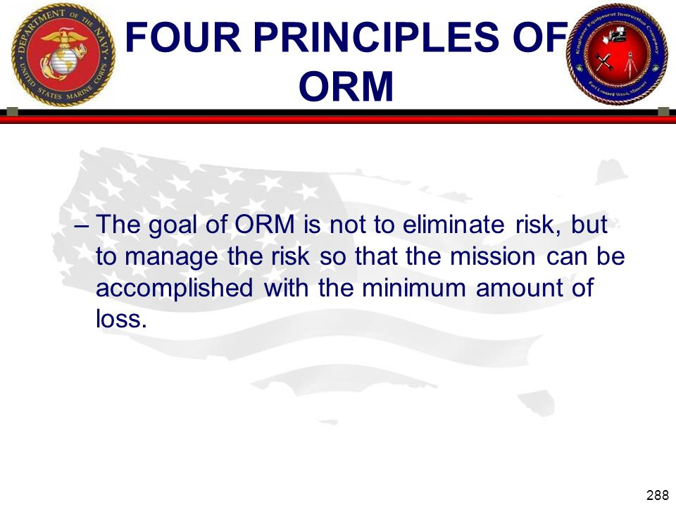 Four Principles of ORM