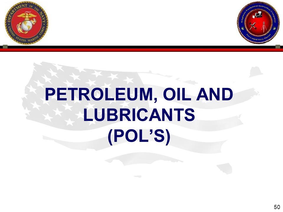 PETROLEUM, OIL and Lubricants (POL'S)
