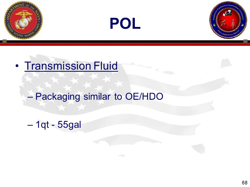 pol Transmission Fluid Packaging similar to OE/HDO 1qt - 55gal