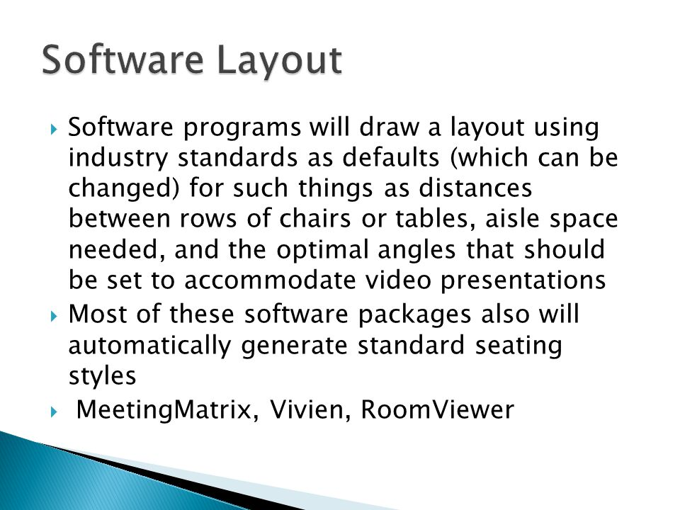 Software Layout
