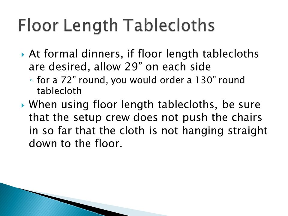 Floor Length Tablecloths