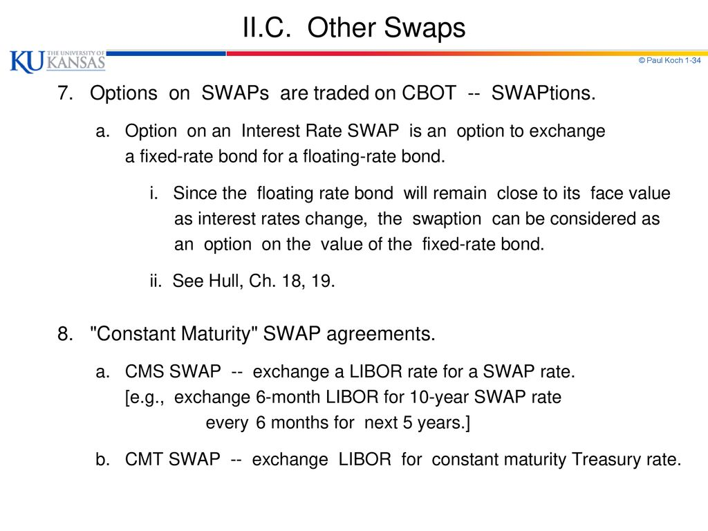 Chapter 7 Swaps I Interest Rate