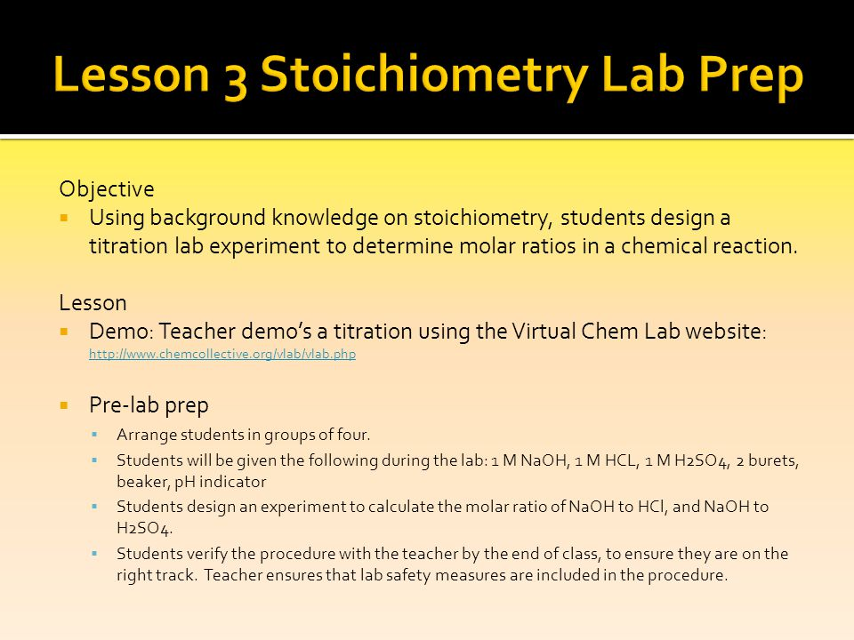 SCH3U D Quantities In Chemical Reactions Stoichiometry