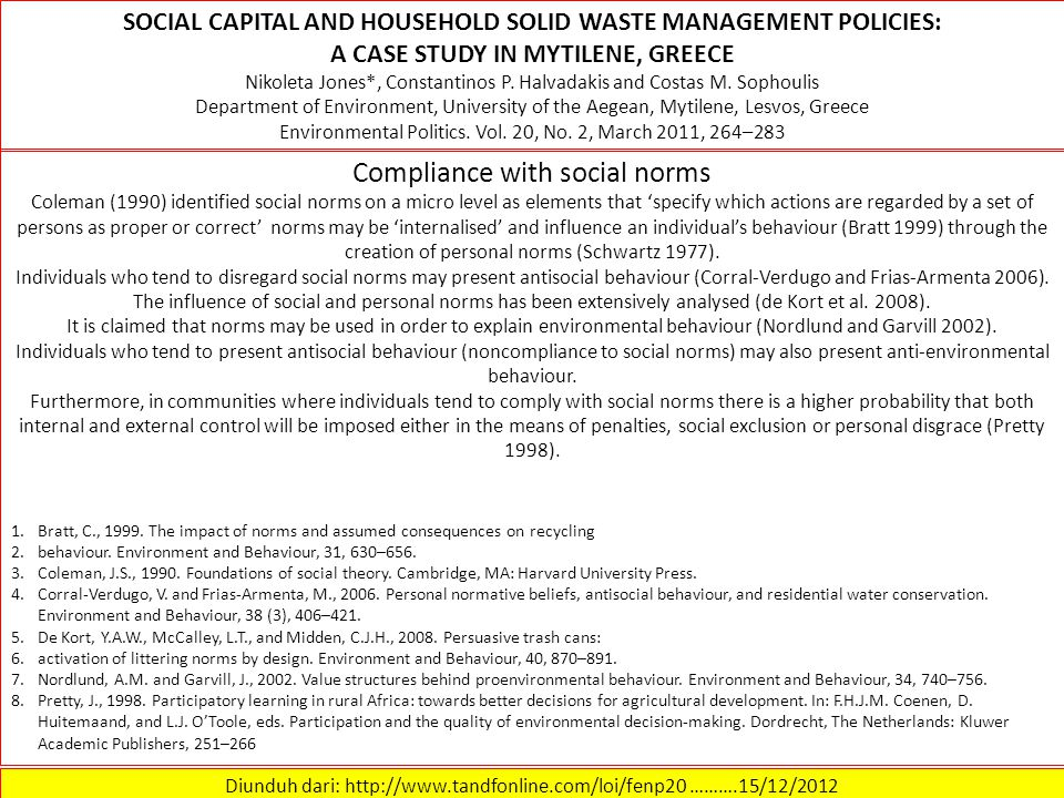 Compliance with social norms