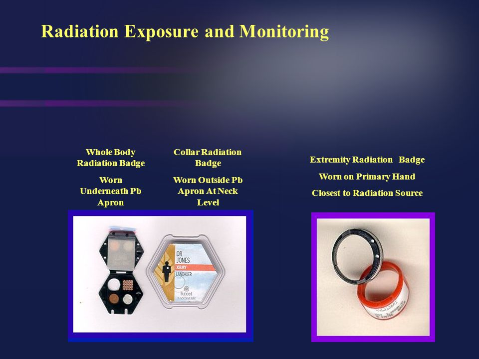Radiation Exposure and Monitoring