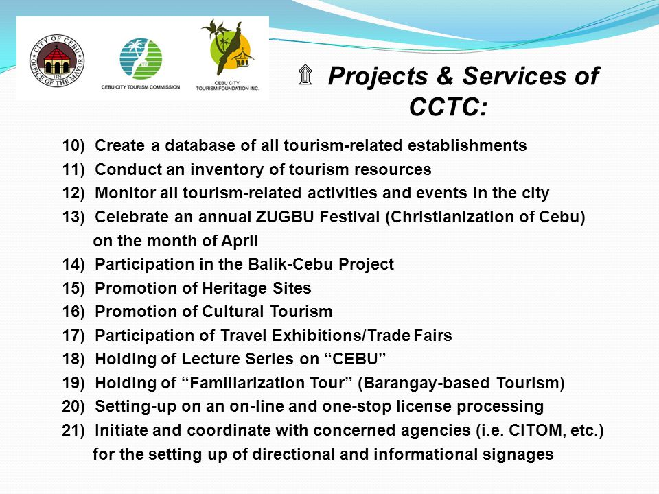 Projects & Services of CCTC: