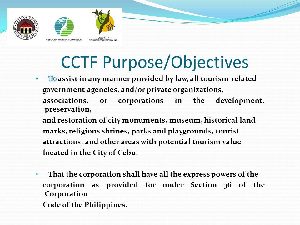 CCTF Purpose/Objectives