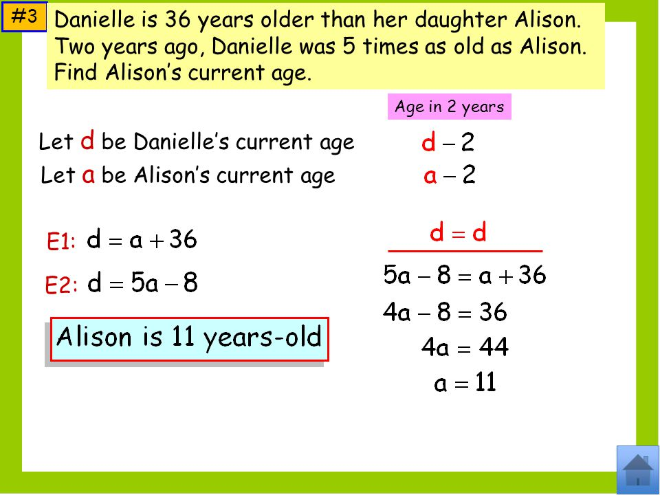 Let d be Danielle's current age
