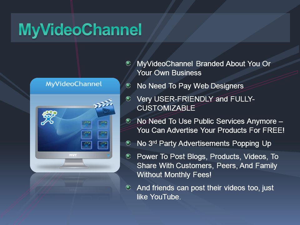 MyVideoChannel MyVideoChannel Branded About You Or Your Own Business