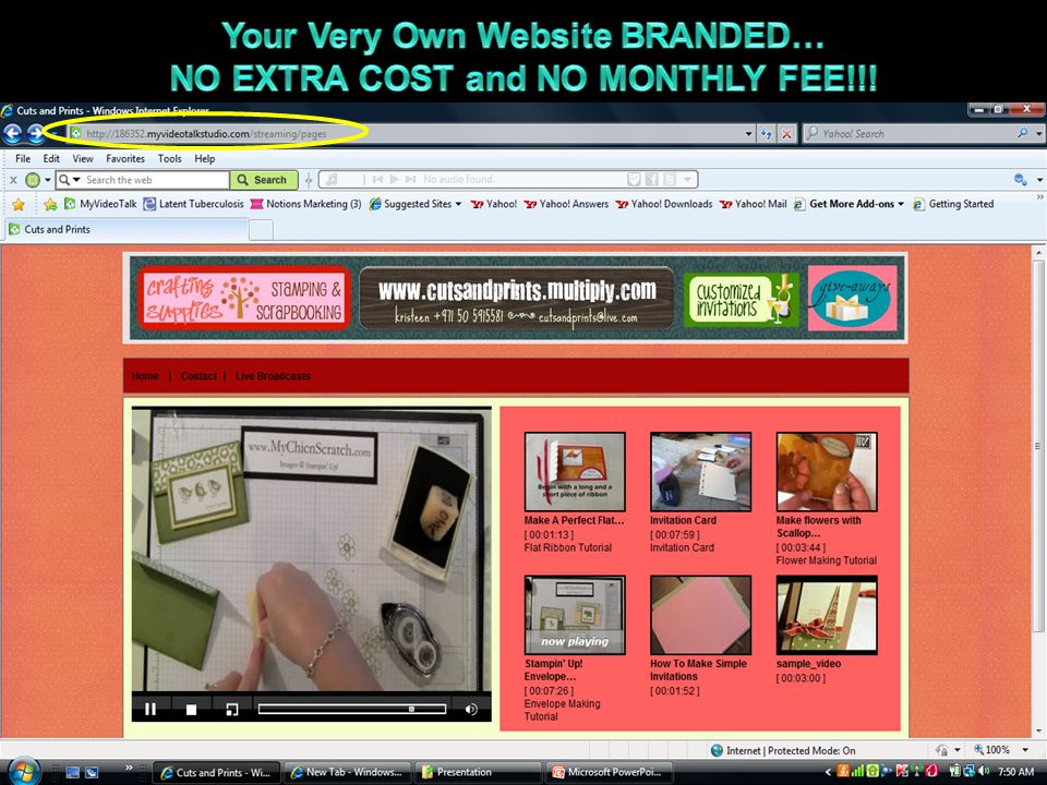 Your Very Own Website BRANDED… NO EXTRA COST and NO MONTHLY FEE!!!